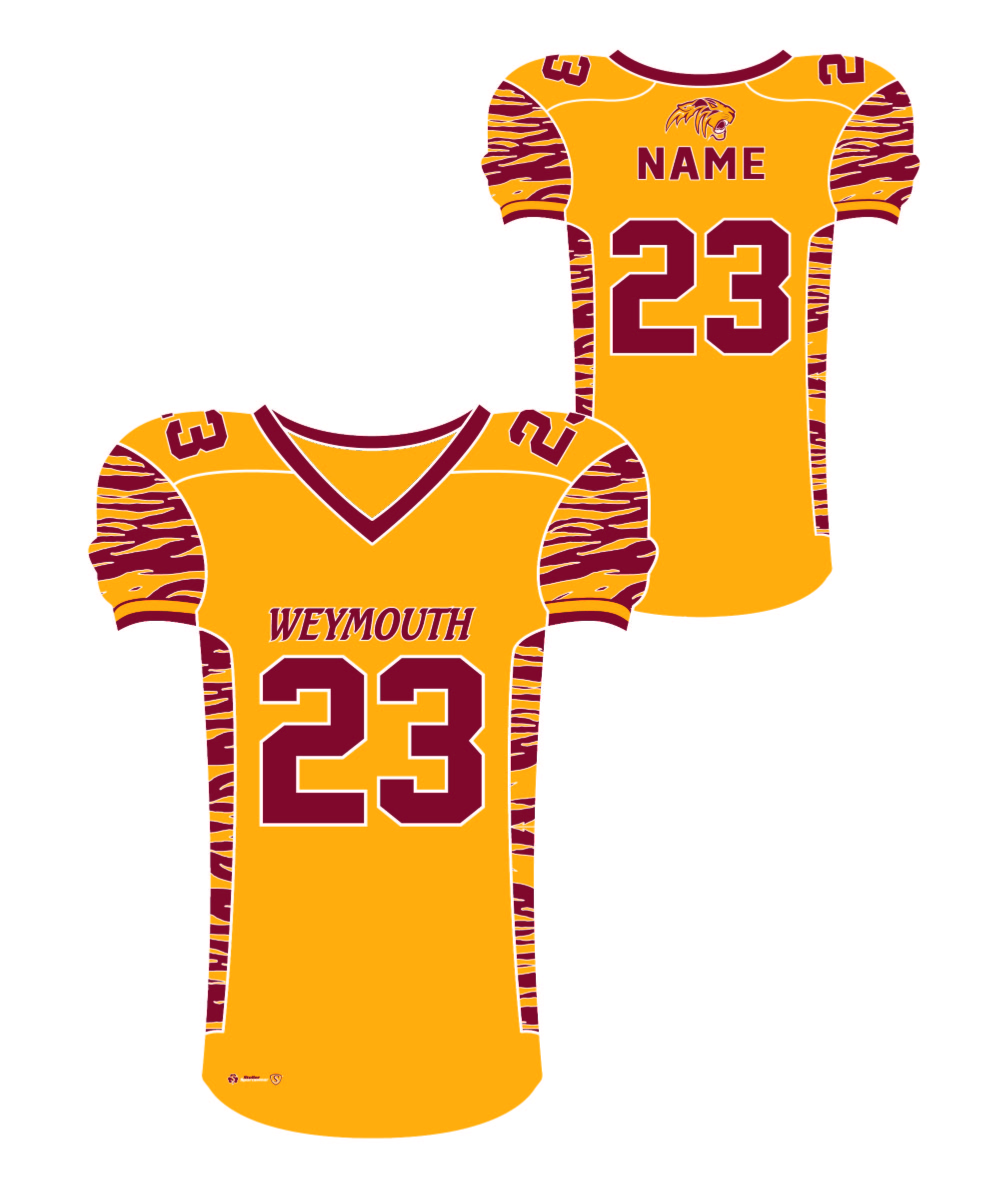 Sublimated Jersey - Weymouth Gold