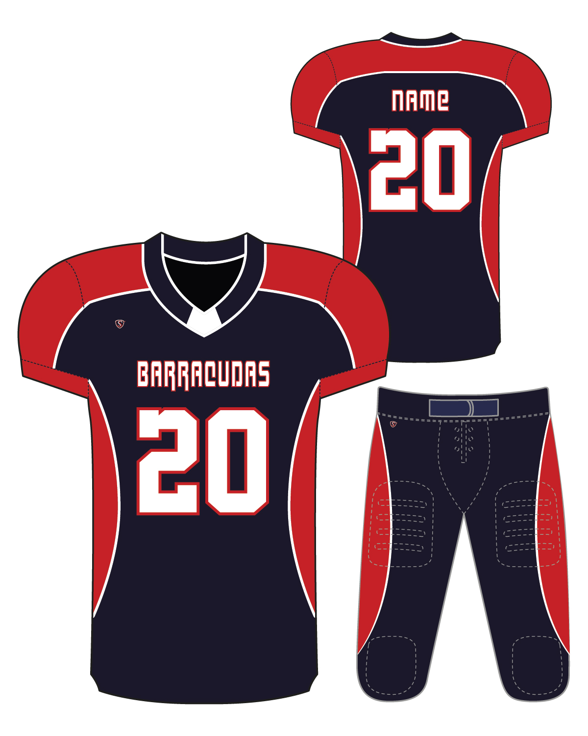 Sublimated Jersey - Barracudas