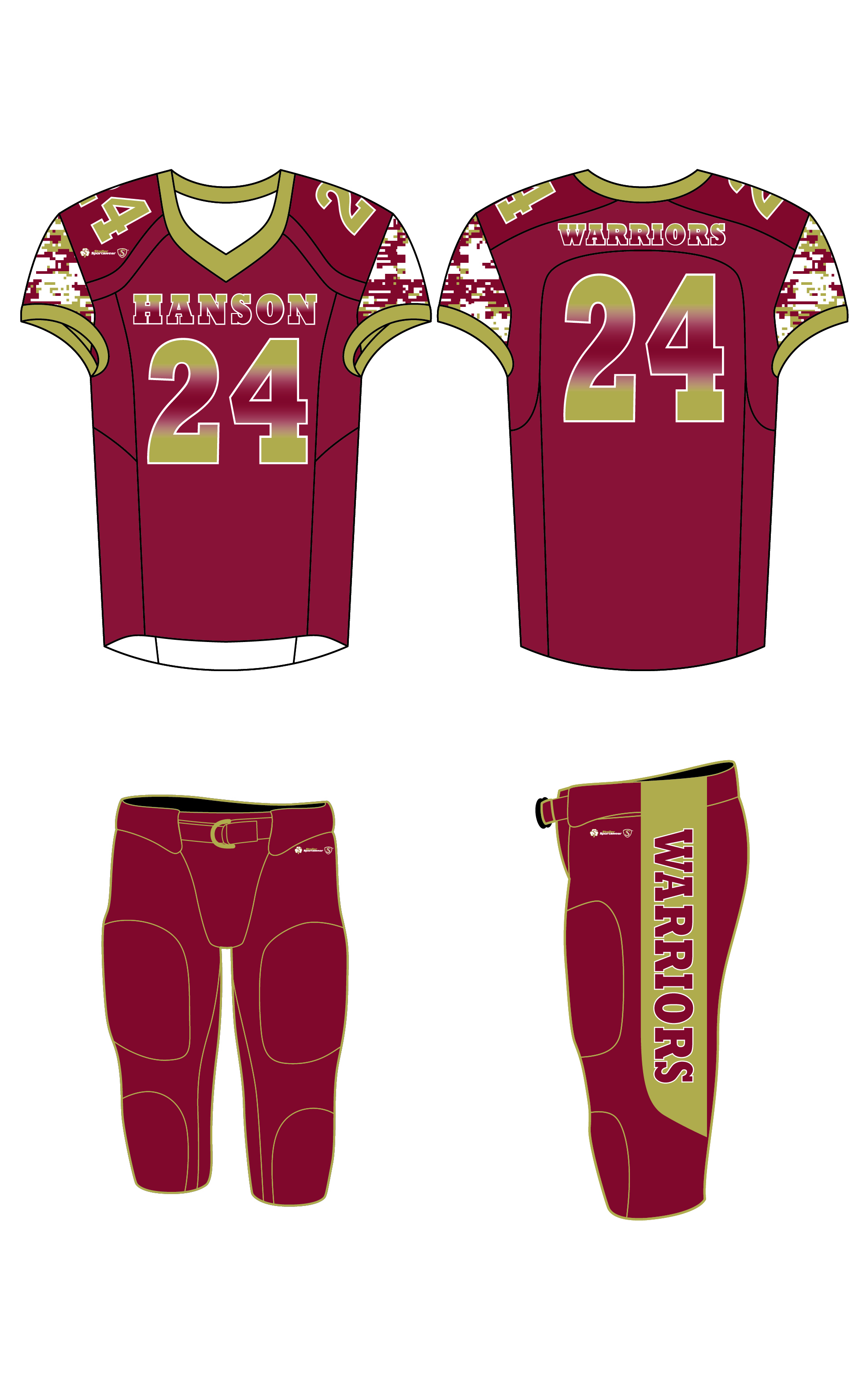 Sublimated Jersey - Hanson Warriors Maroon