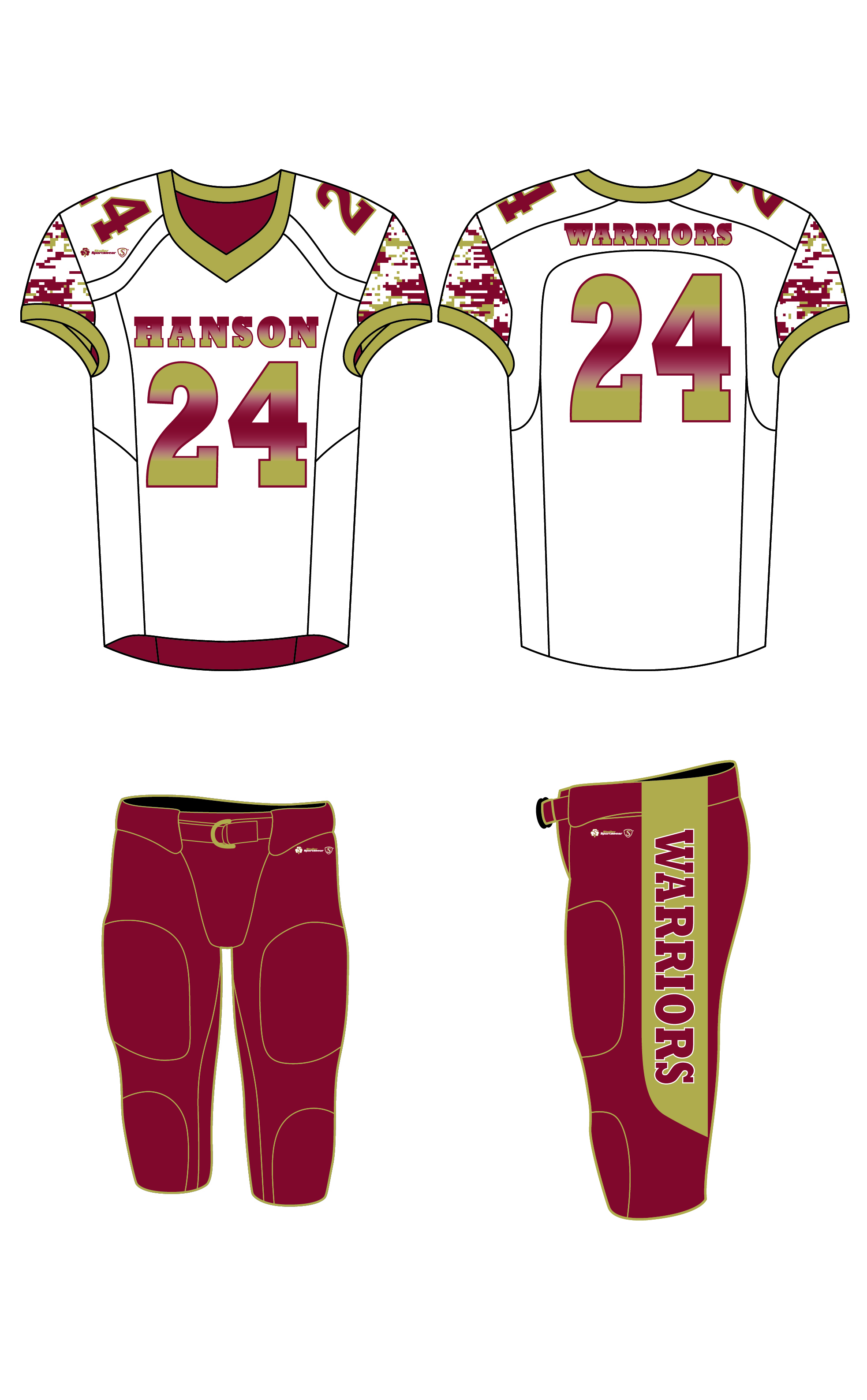 Sublimated Jersey - Hanson Warriors White