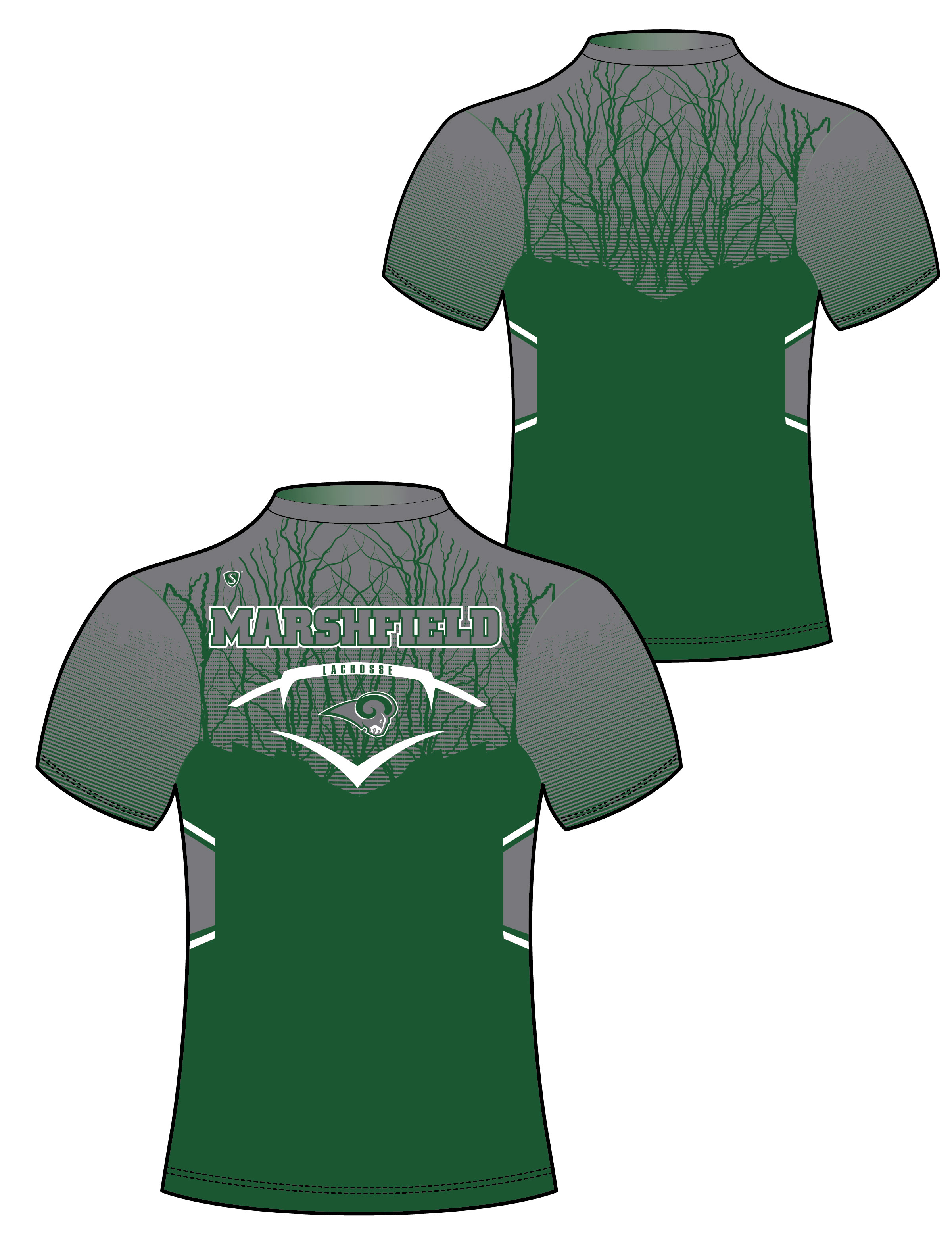 Custom Sublimated Compression Shirt - Marshfield