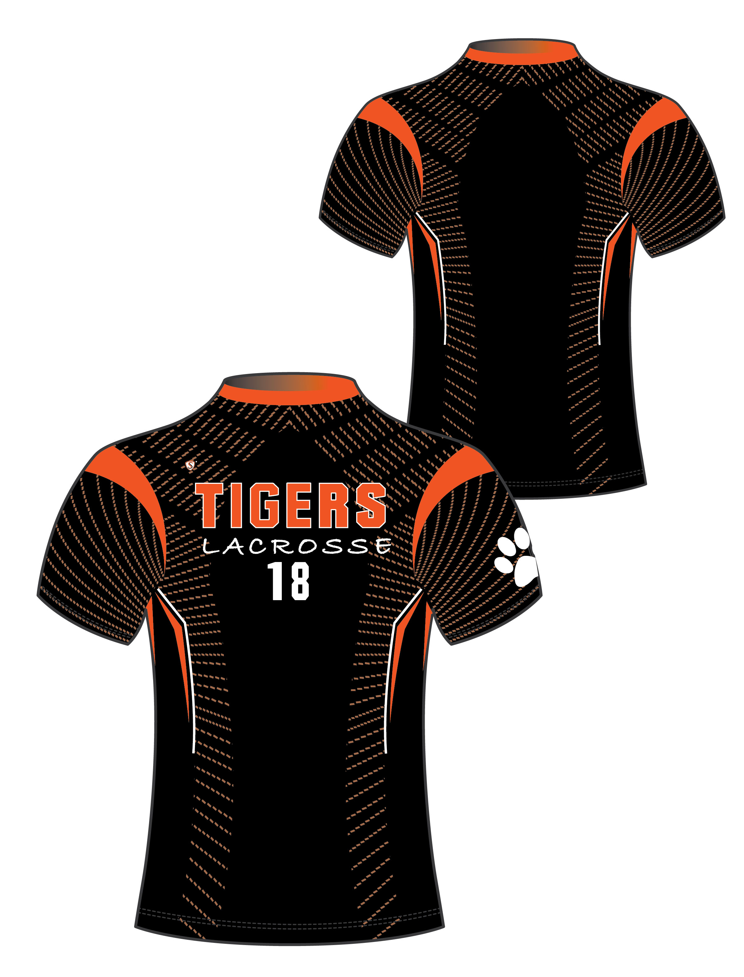 Custom Sublimated Compression Shirt - Tigers