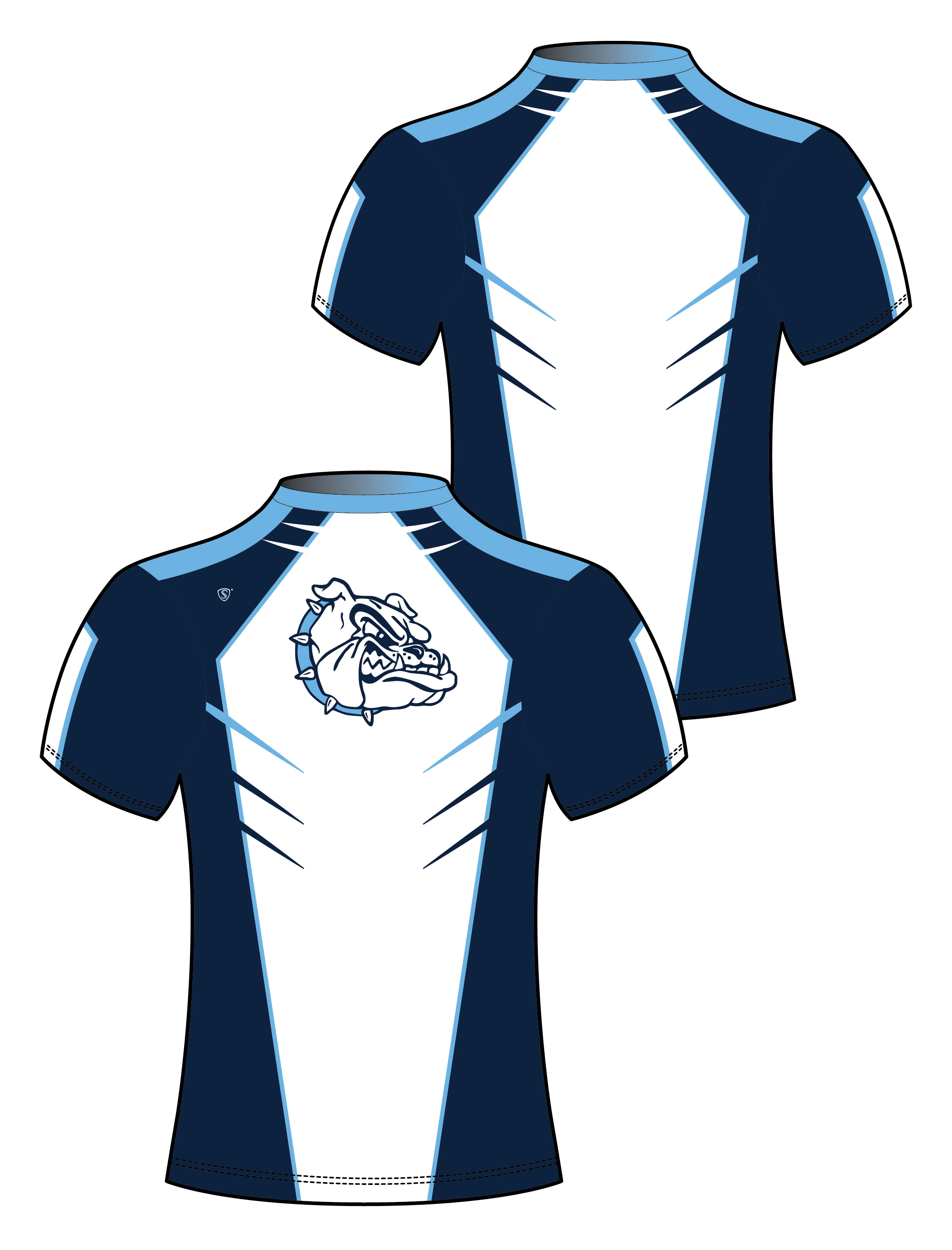 Custom Sublimated Compression Shirt - Bulldogs