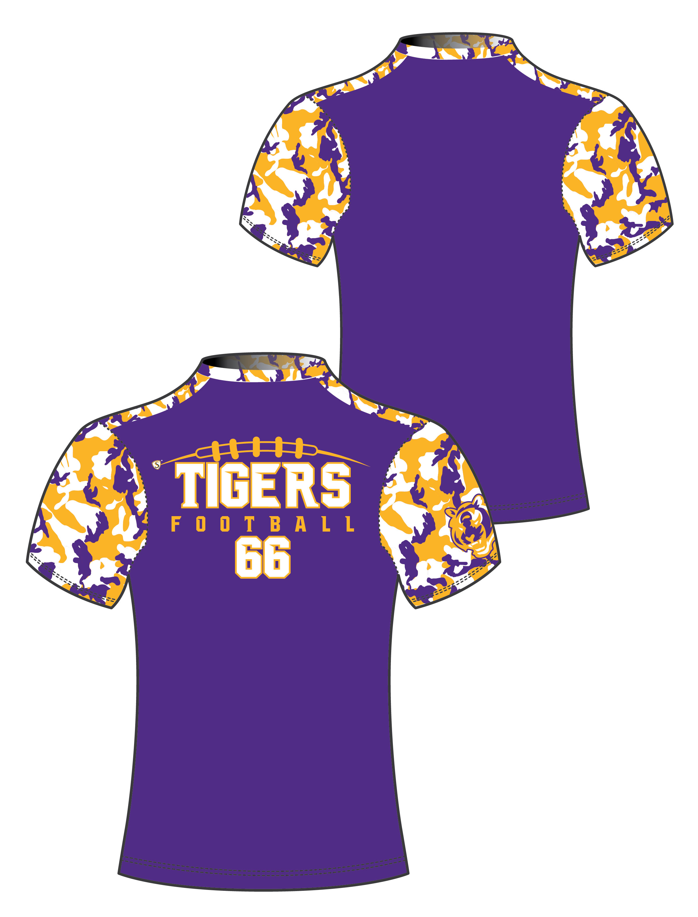 Custom Sublimated Compression Shirt - Tigers 2