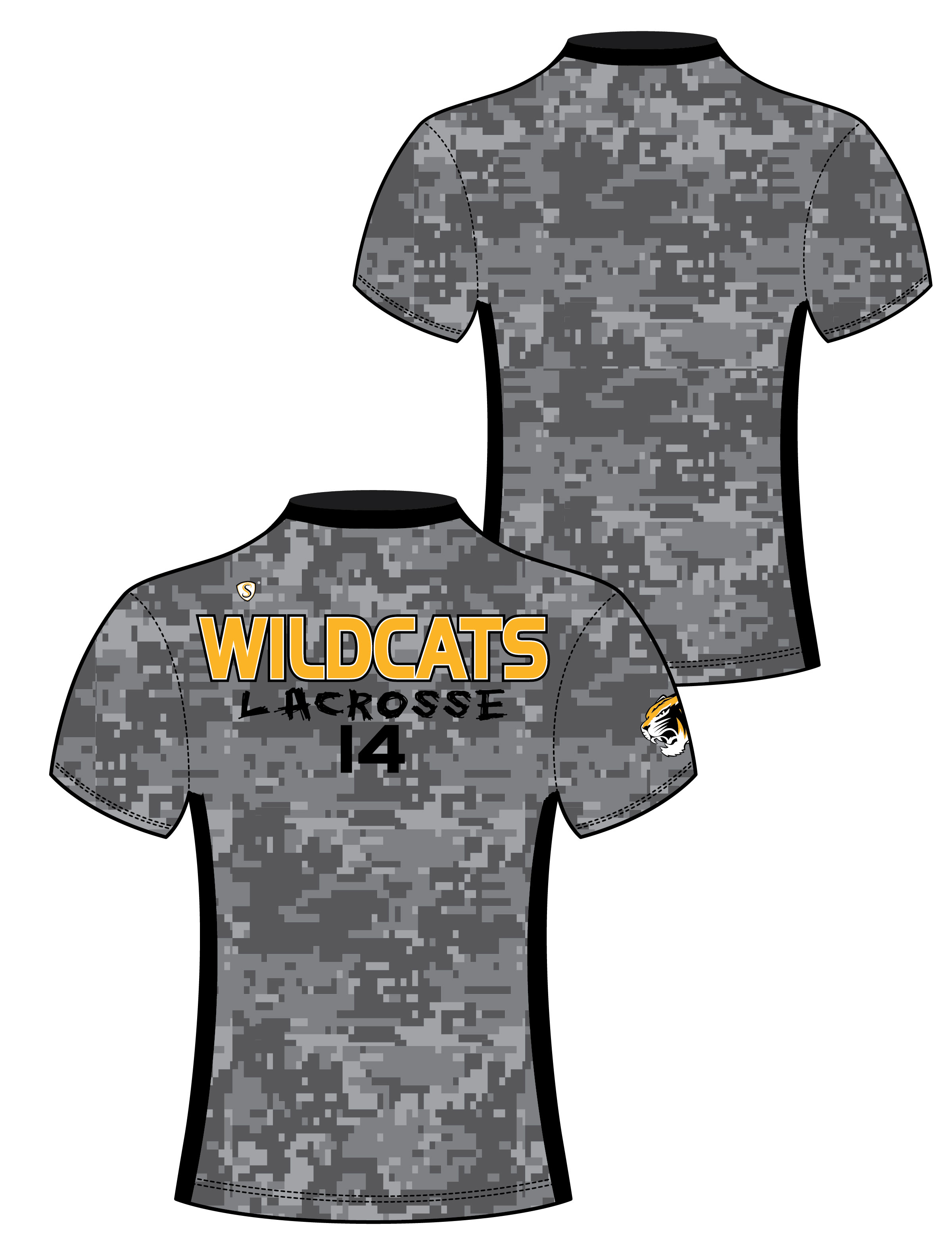 Custom Sublimated Compression Shirt - Wilcatds 2