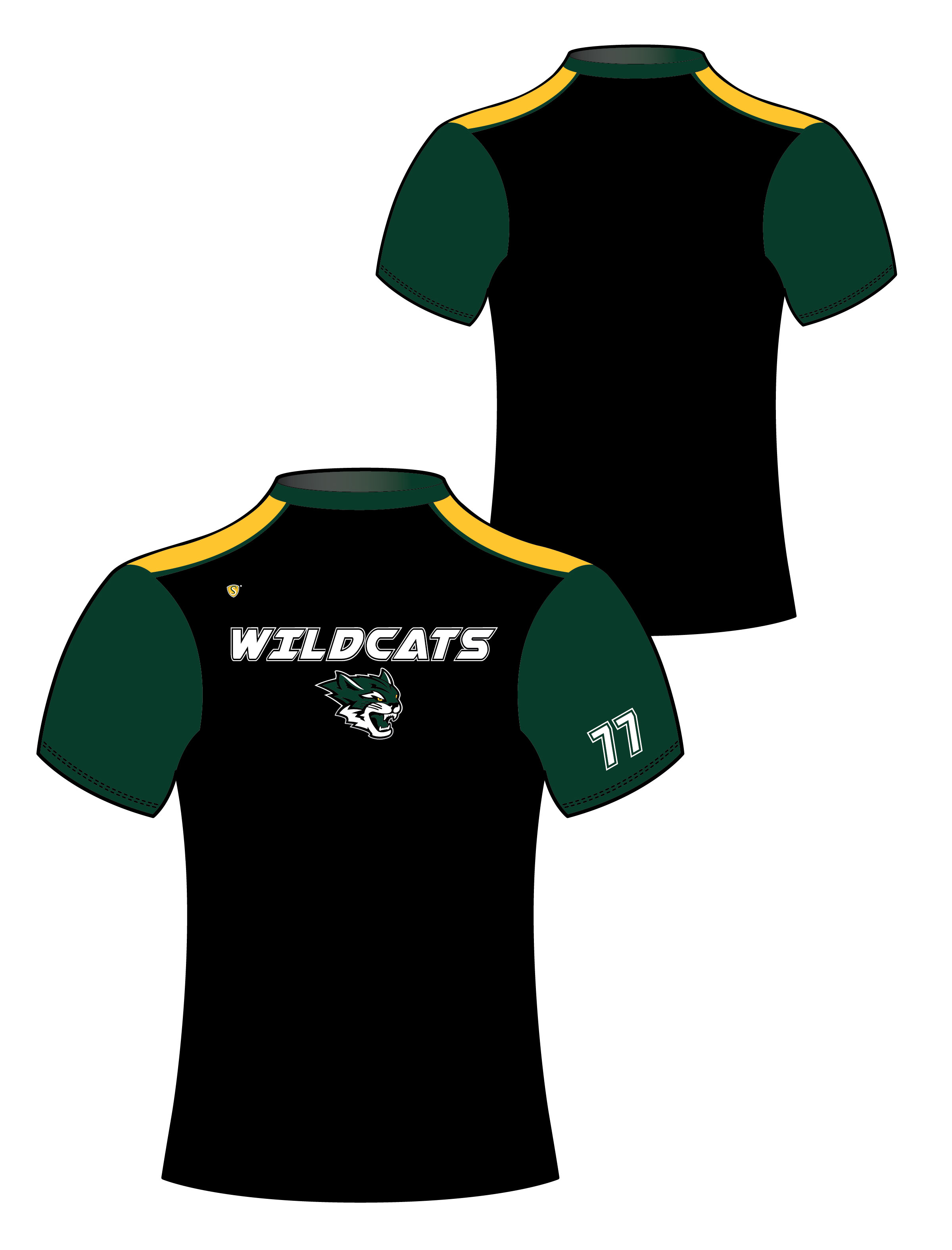 Custom Sublimated Compression Shirt - Wildcats 4