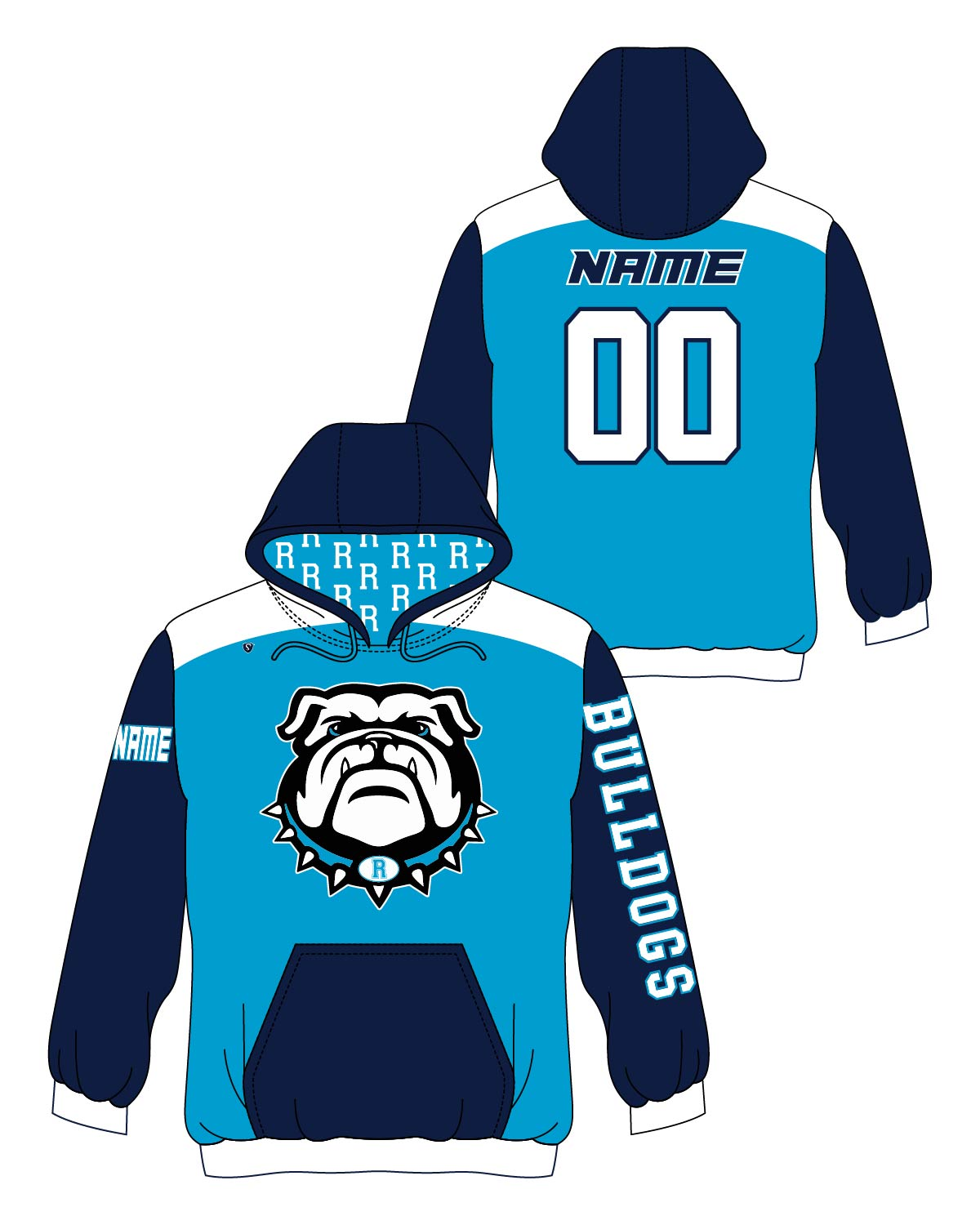 Custom Sublimated Hoodie - Rockland Bulldogs