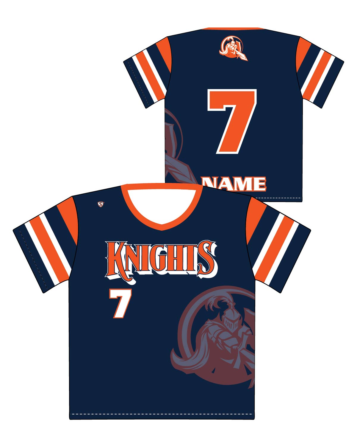 7ceadcecfee941 Custom Sublimated Shooter Shirt - Knights