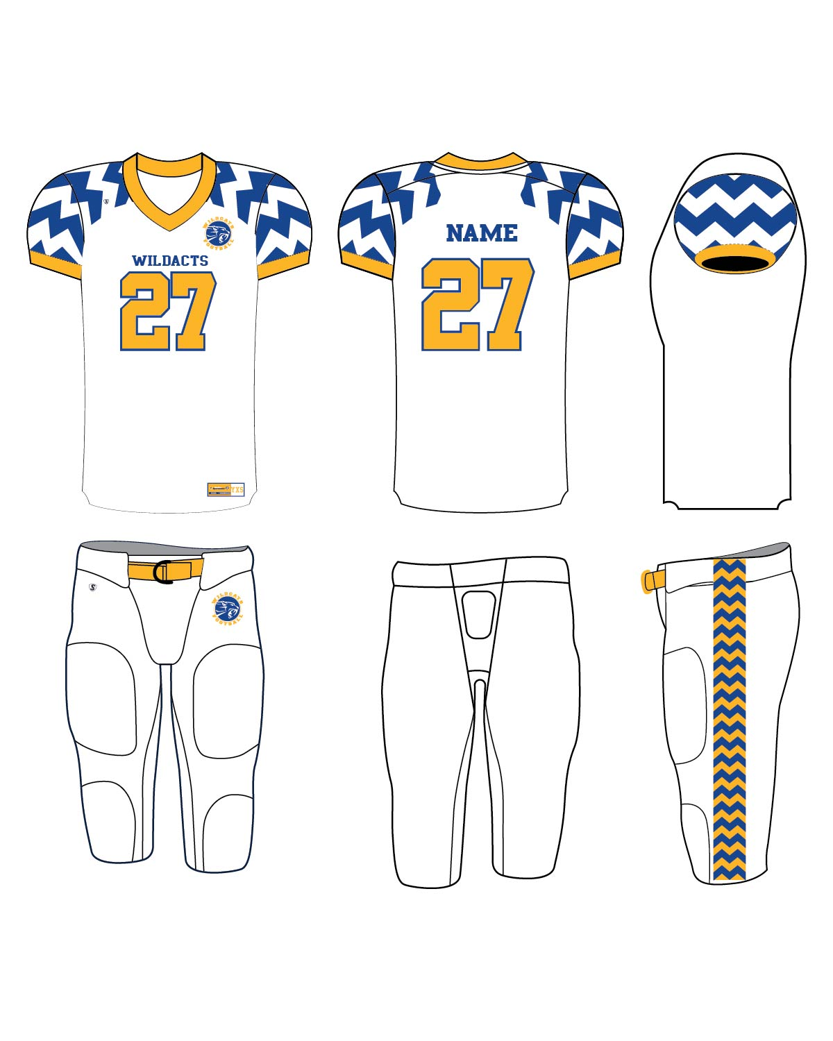 Custom Sublimated Football Uniform - Wildcats 1