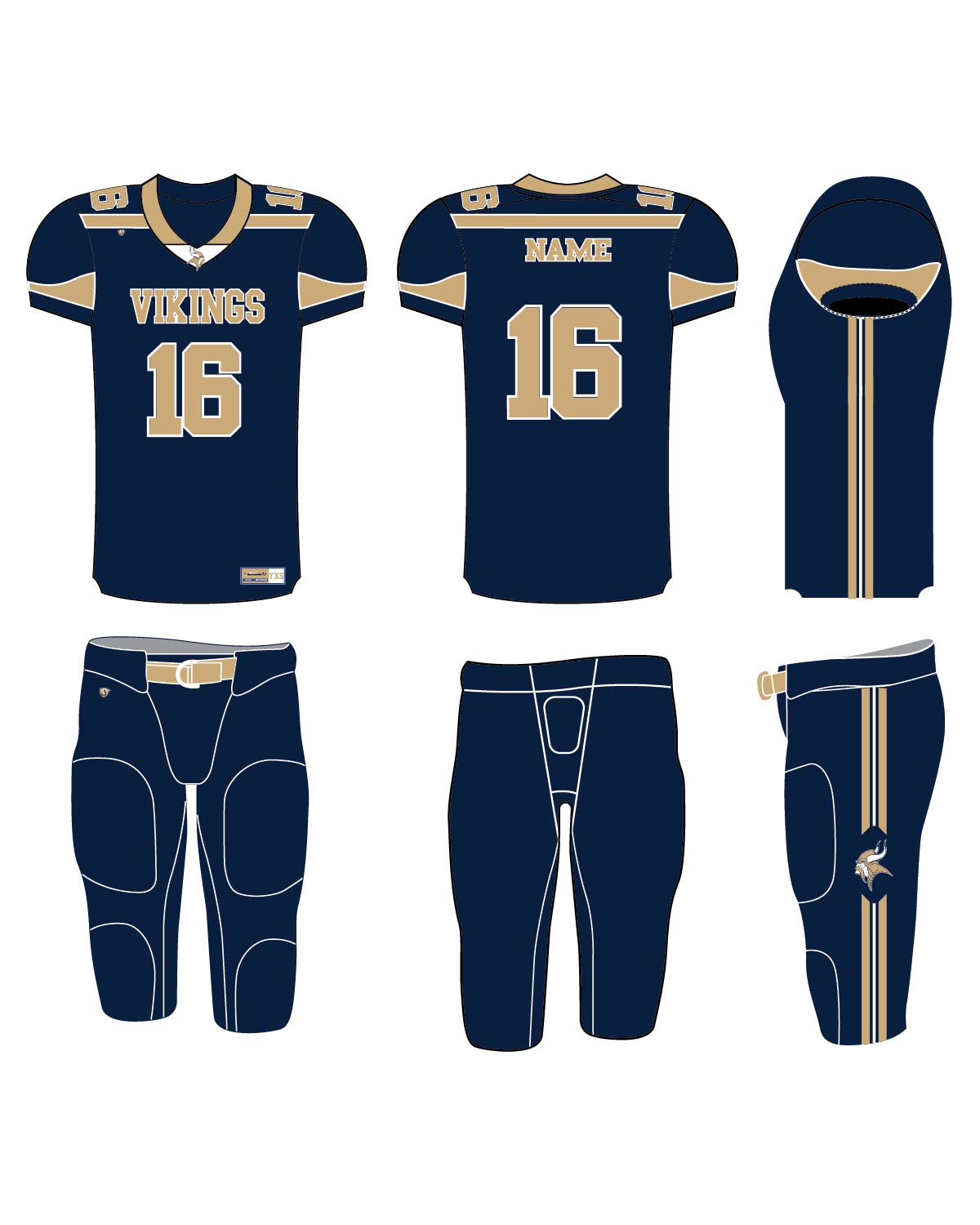 Custom Sublimated Football Uniform - East Bridgewater 2